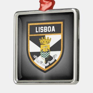 Lissabon-Flagge Silbernes Ornament