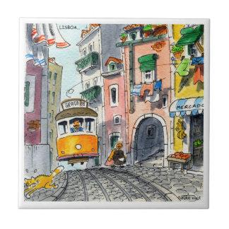 Lissabon-Fliese 03 Kleine Quadratische Fliese