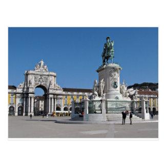 Lissabon-Handels-Quadrat Postkarte