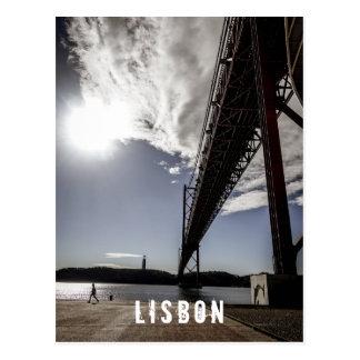 Lissabon, Portugal postard Postkarte