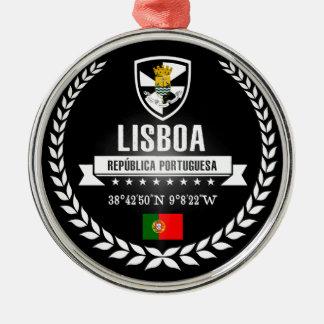 Lissabon Silbernes Ornament