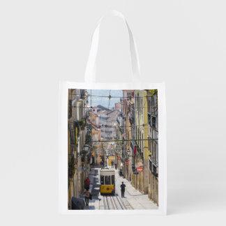 Lissabon-Straßenansichttasche Wiederverwendbare Tragetaschen