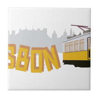 Lissabon-Tram Fliese