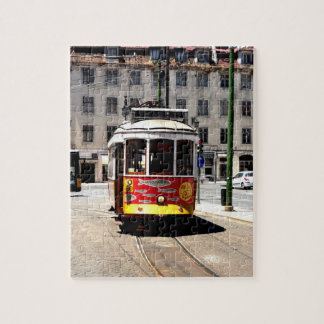 Lissabon-Tram-Puzzlespiel Jigsaw Puzzle