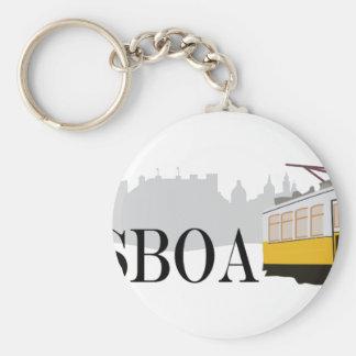 Lissabon-Tram Schlüsselanhänger