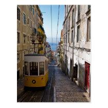 Lissabonstraße und -straßenbahnwagen der Bairro Postkarten