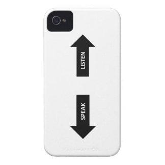 Listen here, speak there. Case-Mate iPhone 4 hüllen