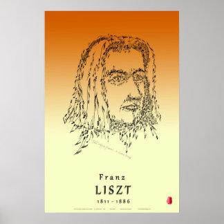 Liszt: Stellen Sie die Musik gegenüber Poster