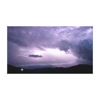 Lit durch Blitz Leinwanddruck