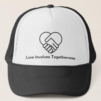 Lit-Liebe bezieht Zusammengehörigkeit mit ein Truckerkappe