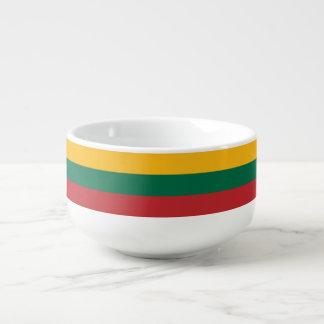 Litauen-Flagge Große Suppentasse