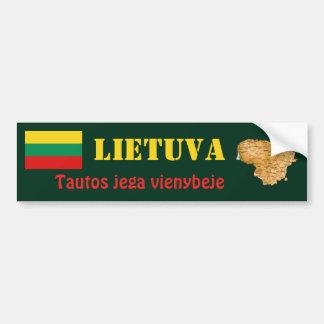 Litauen-Flagge + Karten-Autoaufkleber Autoaufkleber
