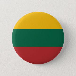 Litauen-Flagge Runder Button 5,7 Cm