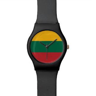 Litauen-Flagge Uhr