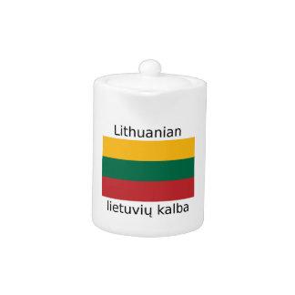 Litauen-Flagge und litauischer Sprachentwurf
