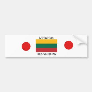 Litauen-Flagge und litauischer Sprachentwurf Autoaufkleber