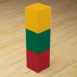 Litauen-Flagge Weinbox