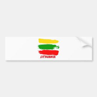 Litauen-Flaggenentwurf Autoaufkleber