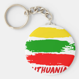 Litauen-Flaggenentwurf Schlüsselanhänger