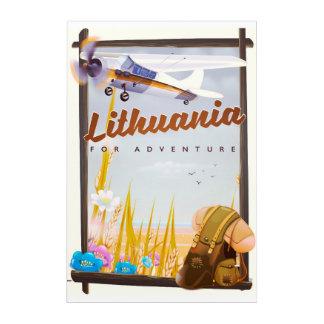 Litauen - für ein Abenteuerreiseplakat Acryldruck