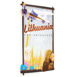 Litauen - für ein Abenteuerreiseplakat Leinwanddruck