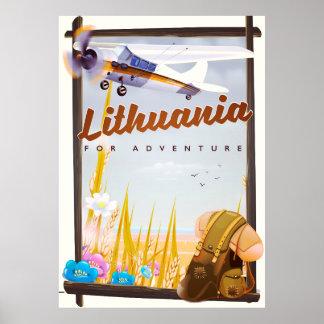 Litauen - für ein Abenteuerreiseplakat Poster