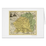 Litauen-Karte 1750 Grußkarte