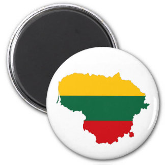 Litauen-Landesflaggekarten-Formsymbol Runder Magnet 5,7 Cm
