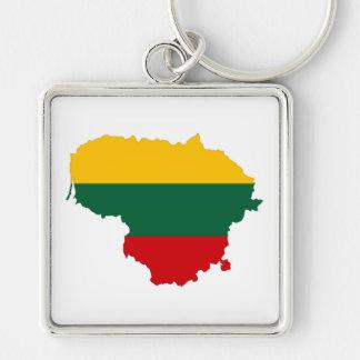 Litauen-Landesflaggekarten-Formsymbol Schlüsselanhänger