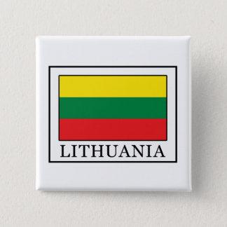 Litauen Quadratischer Button 5,1 Cm