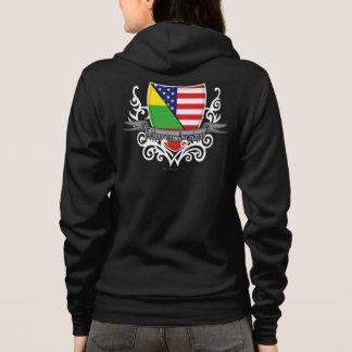 Litauisch-Amerikanische Schild-Flagge Hoodie