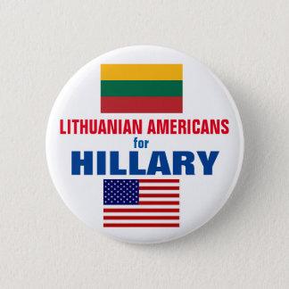 Litauische Amerikaner für Hillary 2016 Runder Button 5,1 Cm