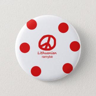 Litauische Sprache und Friedenssymbol-Entwurf Runder Button 5,1 Cm