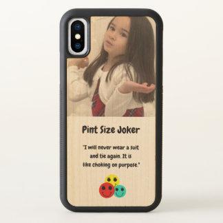Liter-Größen-Joker: Erdrosseln auf Anzug und iPhone X Hülle