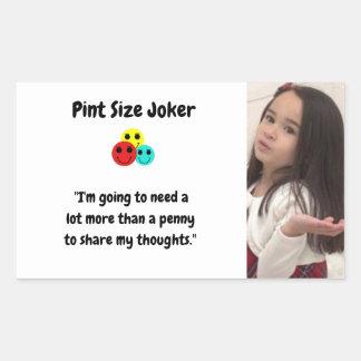 Liter-Größen-Joker: Penny für Ihre Gedanken Rechteckiger Aufkleber