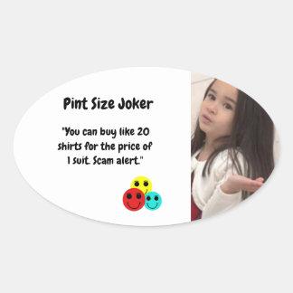 Liter-Größen-Joker: Shirt-und Anzugs-Preise Ovaler Aufkleber