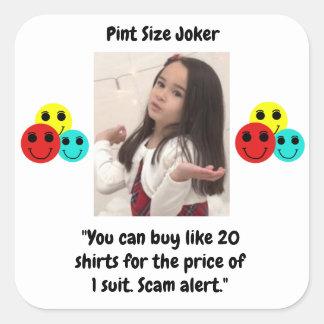 Liter-Größen-Joker: Shirt-und Anzugs-Preise Quadratischer Aufkleber