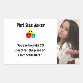 Liter-Größen-Joker: Shirt-und Anzugs-Preise Rechteckiger Aufkleber