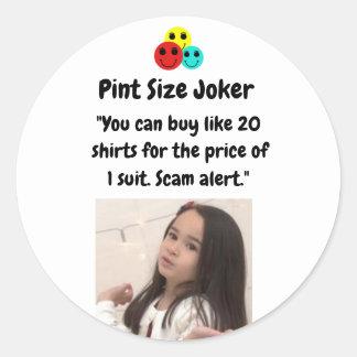 Liter-Größen-Joker: Shirt-und Anzugs-Preise Runder Aufkleber