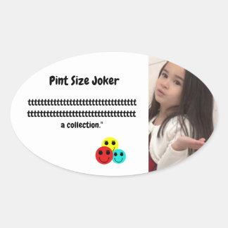 Liter-Größen-Joker: Teilnahme-Trophäe-Sammlung Ovaler Aufkleber
