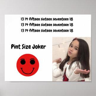 Liter-Größen-Joker: Weihnachtsmann und Poster