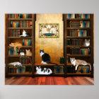 Literarische Katzen Poster