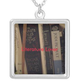 Literatur-Liebhaber Versilberte Kette