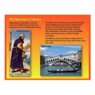 Literatur, Shakespeare, Kaufmann von Venedig Postkarte