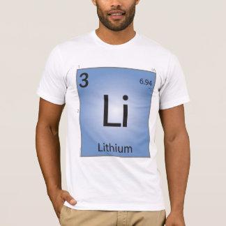 Lithium- (Li)Element-T - Shirt - nur Front