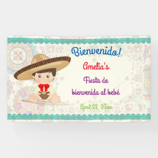 Little Boy spanischer mexikanischer Sombrero Niñ0 Banner