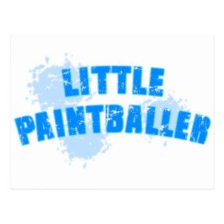 Little Boys Paintball Postkarte