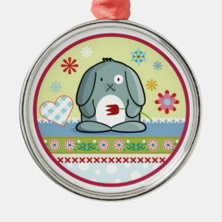Little Bunny Silbernes Ornament