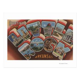 Little Rock, Arkansas - große Buchstabe-Szenen 2 Postkarte