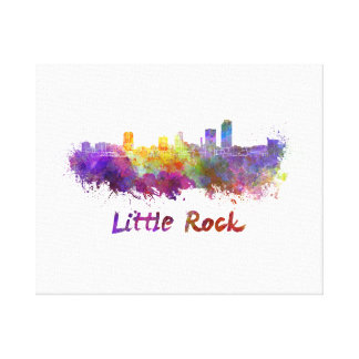 Little Rock skyline im Watercolor Leinwanddruck